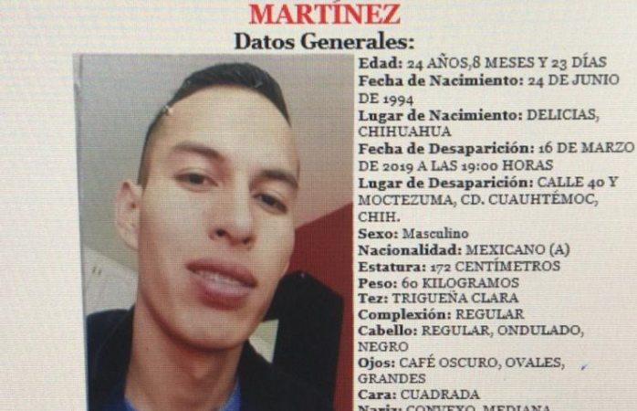 Buscan a joven levantado en Cuauhtémoc