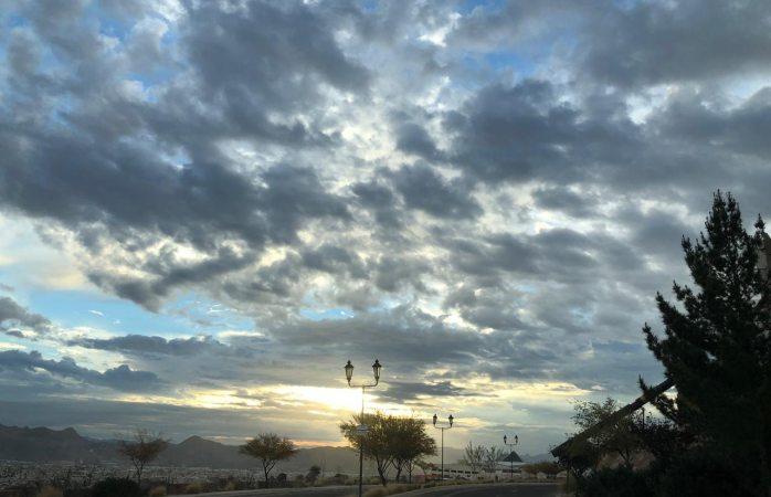 Cielo nublado con sensación térmica de 4°C