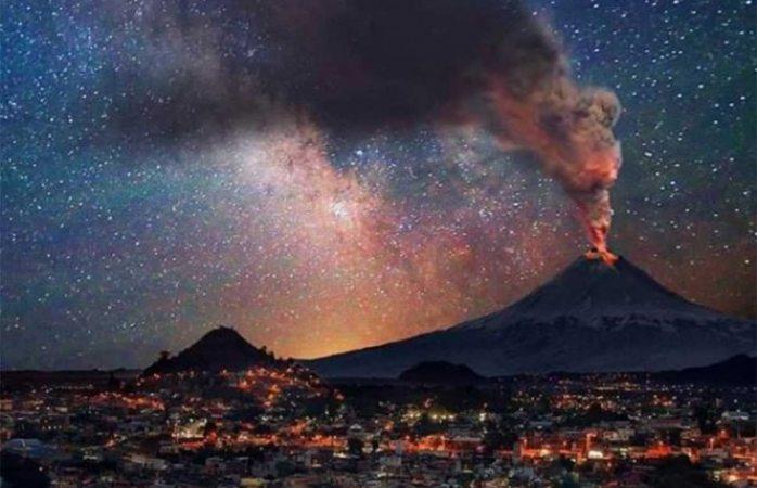 Ve las impresionantes fotografías de la explosión del Popocatépetl