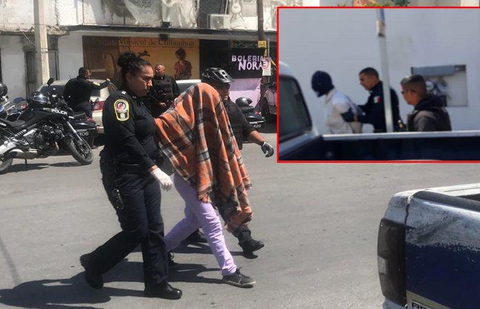 Caen dos secuestradores y rescatan a víctima en el centro