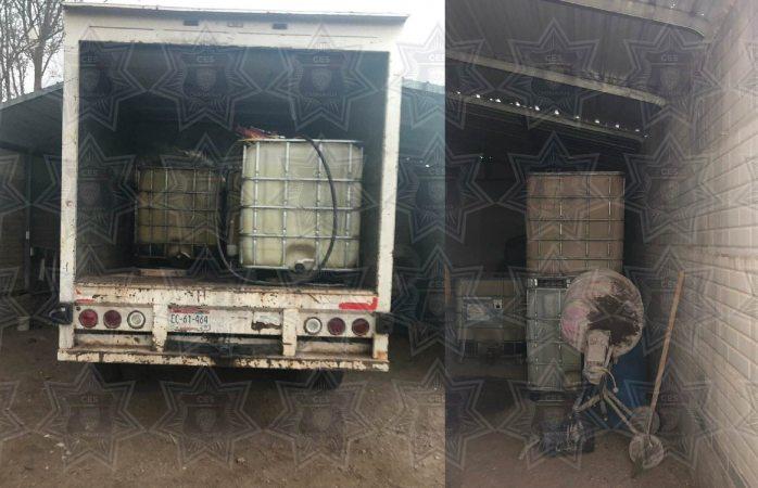 Aseguran más de 2 mil litros de huachicol en Namiquipa