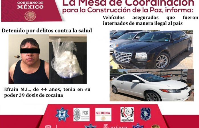 Detenidos por portar drogas y armas