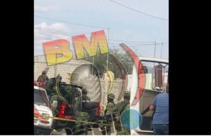 Aseguran sedena y federales armamento en Jiménez