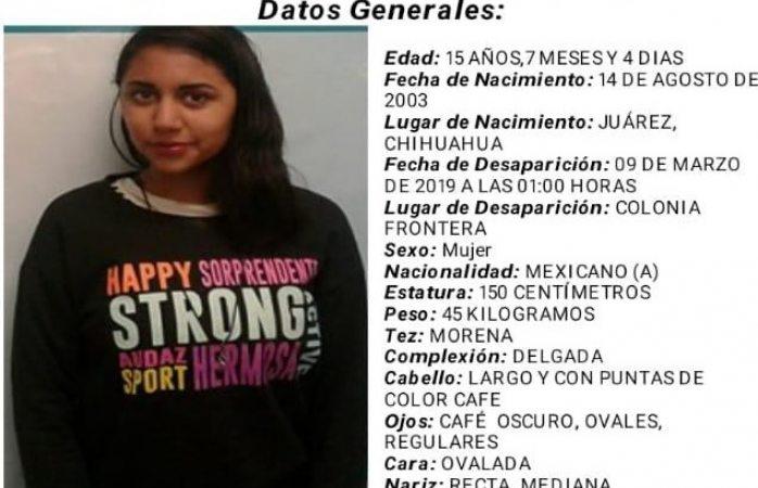Buscan adolescente desaparecida en Juárez