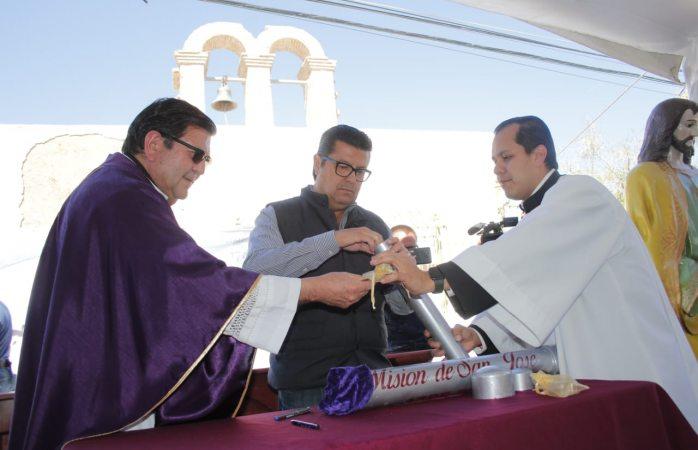 Reinicia alcalde restauración de capilla misión de san José