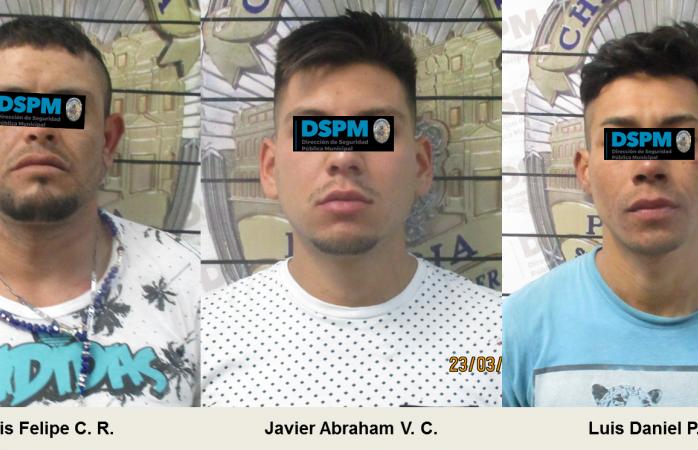 Arrestan a tres por traer marihuana y cristal