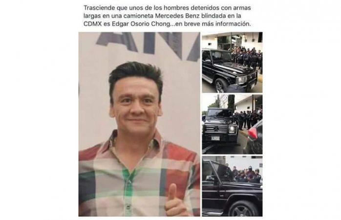 Detienen a Edgar Osorio Chong tras riña con policías en CDMX