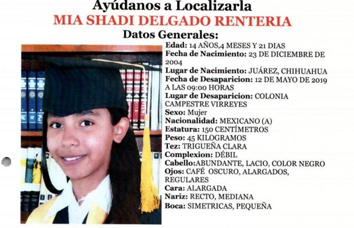 Localizan a menor desaparecida el 12 de mayo