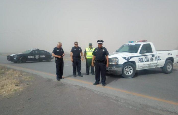 Alertan por tolvaneras en carreteras del estado