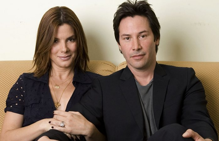 Dice Keanu Reeves que estaba enamorado de Sandra Bullock