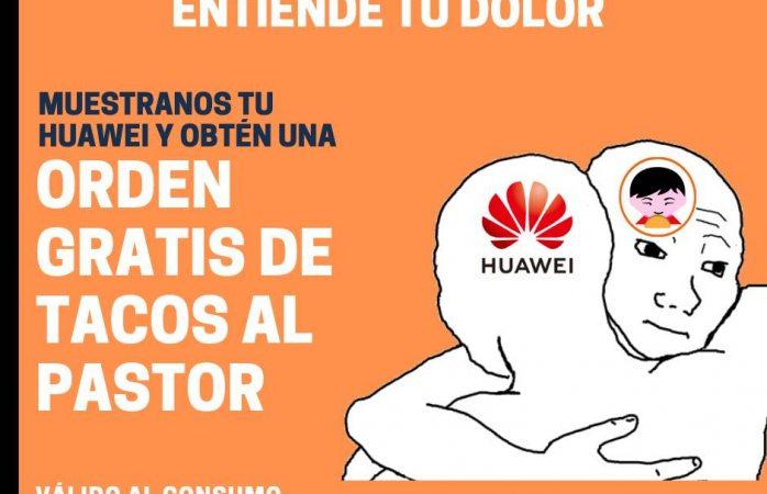 ¿Tienes un Huawei? este restaurante te regala una orden de tacos en Cdmx
