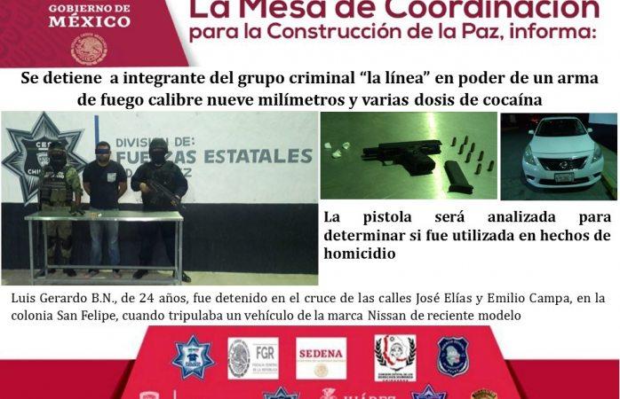 Caen 3 sicarios de distintos grupos y les aseguran armas y drogas