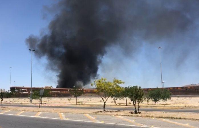 Alarma incendio de una bodega en El Paso