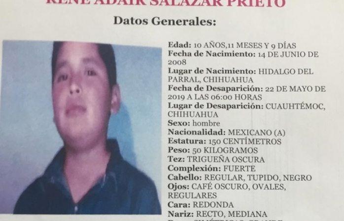 Encuentran a niño desaparecido en Cuauhtémoc