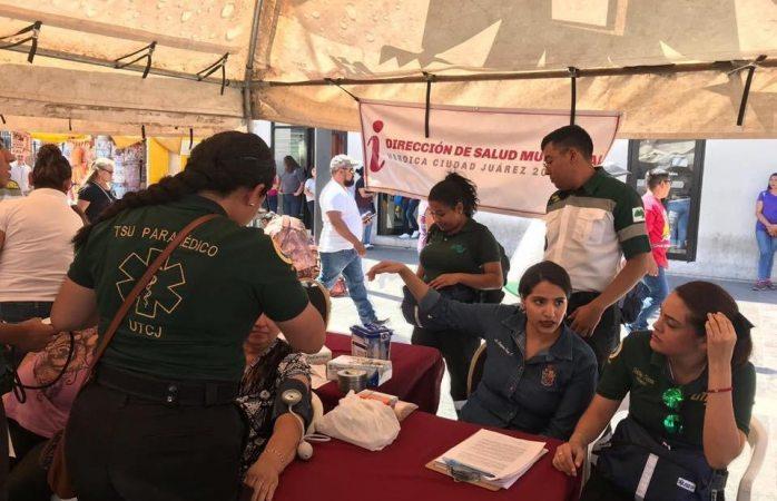 Organizan feria de la salud en el centro de Juárez