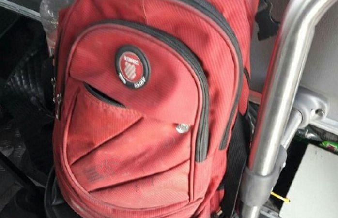 Buscan al dueño de una mochila olvidada en ruta