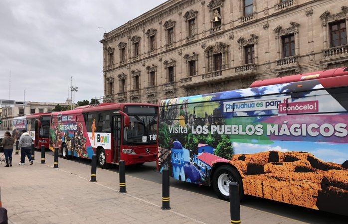 Sacan de circulación camiones para promocionar evento
