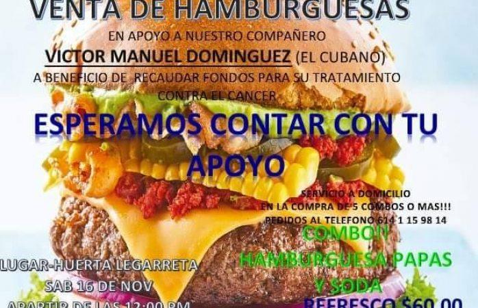 Invitan a hamburguesada para recabar fondos para El Cubano