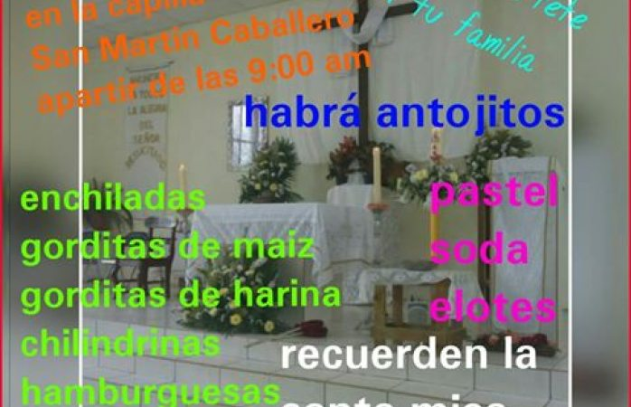 Kermesse a beneficio de la capilla San Martín