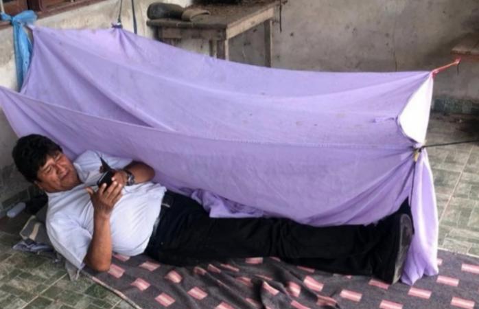Evo comparte foto de refugio donde pasó la noche después de su renuncia
