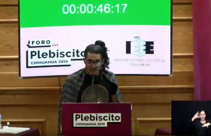 Impidieron acceso a ciudadanos en foro plebiscito: maría cisneros