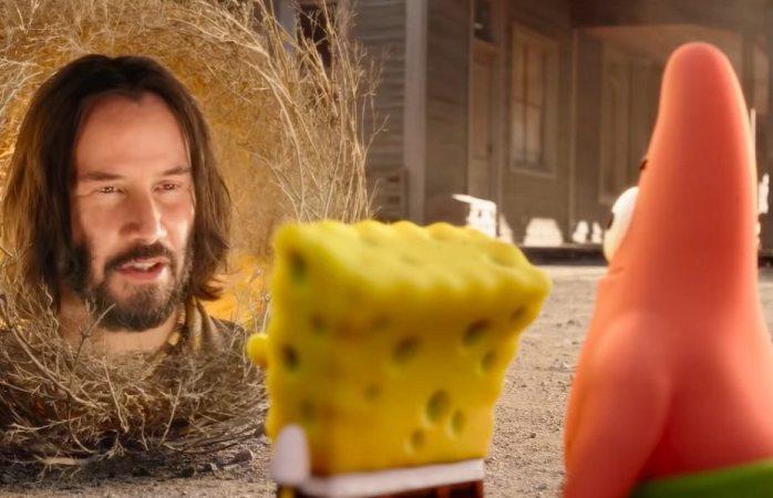 Keanu Reeves es una planta rodante en el primer tráiler de Sponge on the Run