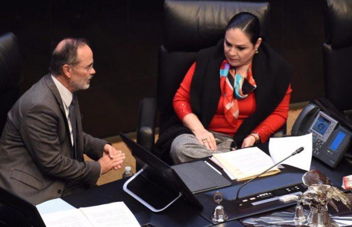 Presidenta del senado rechaza disculpa de Gustavo Madero