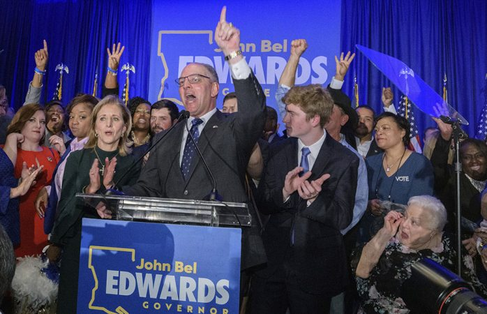 Reelige Luisiana a gobernador demócrata