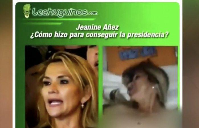 Difunden video porno de jeanine áñez presidenta de bolivia