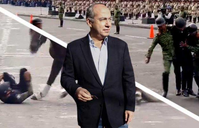 Calderón manda indirecta a amlo tras accidente en desfile por la Revolución