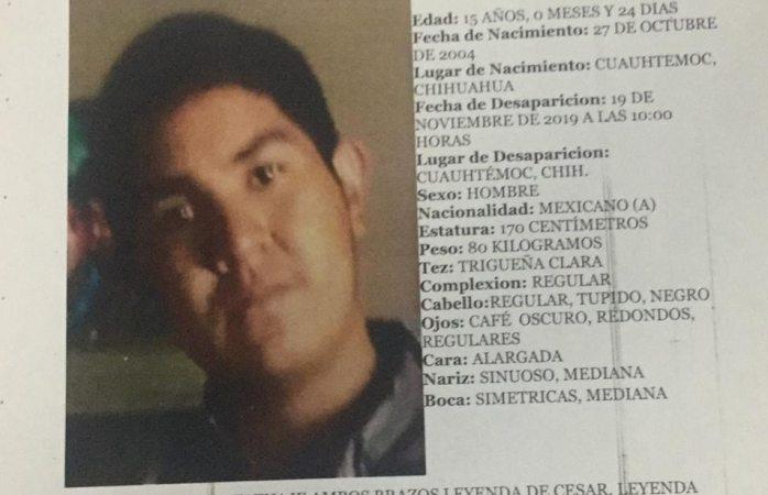 Buscan a otro adolescente que se perdió en Cuauhtémoc