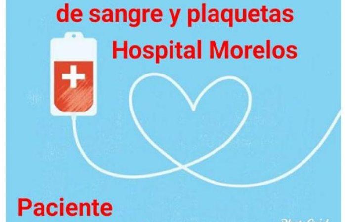 Buscan familiares de la paciente 20 donadores de sangre