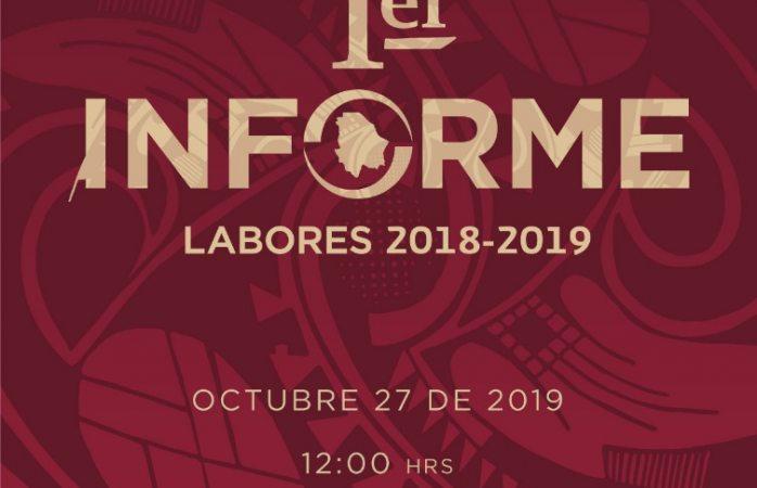 Rendirá informe Cruz Pérez Cuéllar el 27 de octubre