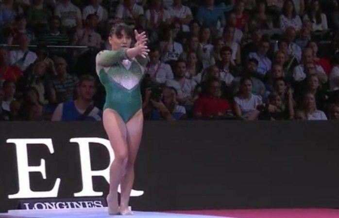 Alexa Moreno se queda sin medalla en mundial de gimnasia