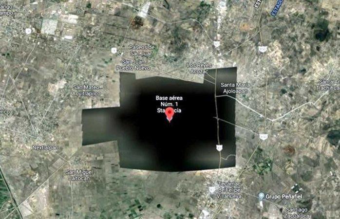 Desaparece santa lucía de google maps