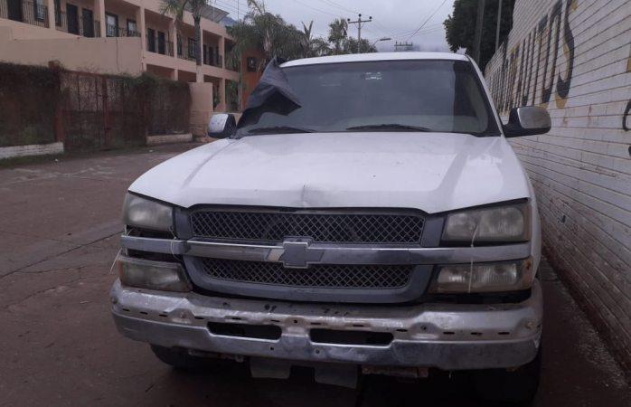 Localizan pick up con reporte de robo en chínipas