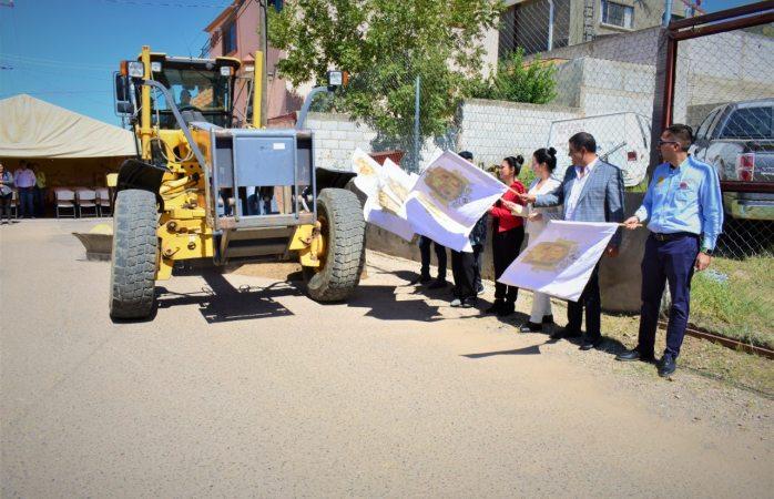 Arrancan más obras de pavimentación en Parral