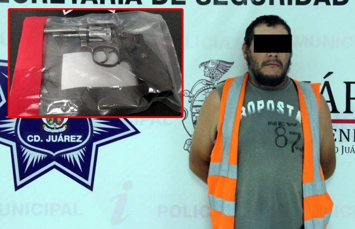 Amenazó de muerte a su esposa con revolver calibre 38