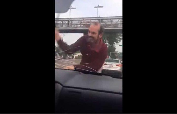Se viraliza video donde atacan a conductora en la cdmx