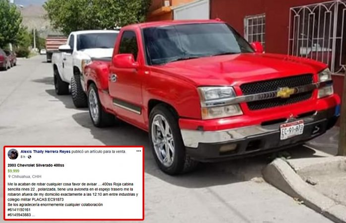 Pide ayuda para localiza pick up robada