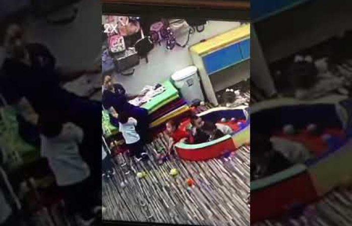Denuncian maltrato en guardería kids care