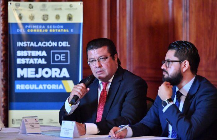Participa alcalde en instalación de la primera sesión ordinaria del consejo estatal de mejora regulatoria