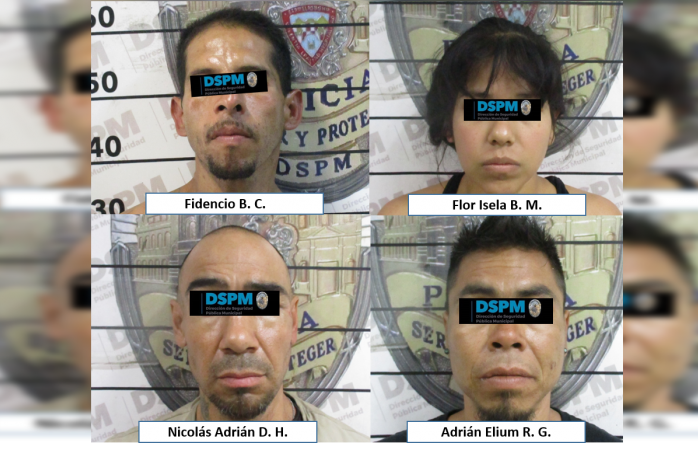 Arrestan a 4 probables ladrones