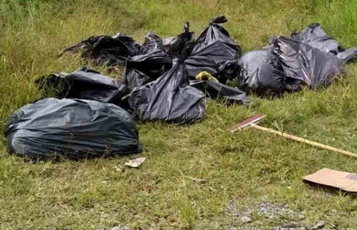 Hallan 17 bolsas con restos humanos en Jalisco