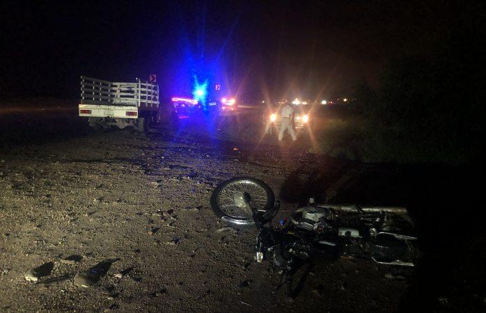 Choca contra motociclista en el obelisco hacia Juárez