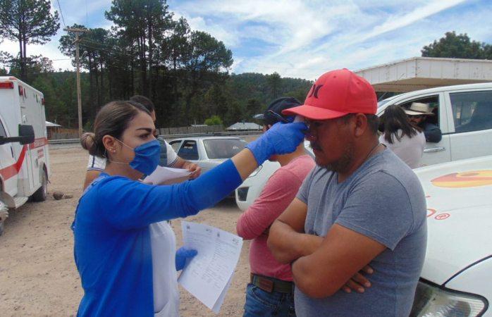 Registran 170 personas durante primer día de cerco sanitario en Guadalupe y Calvo