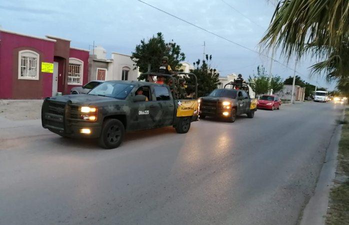 Patrulla ejército las calles y pide no salir de casa