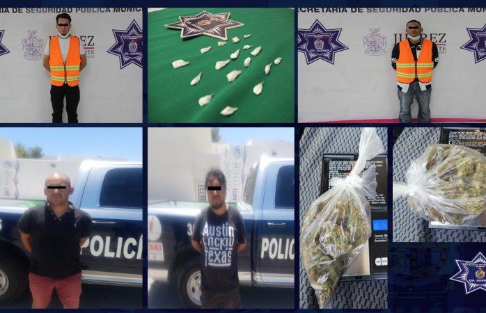 Caen cuatro presuntos narcomenudistas