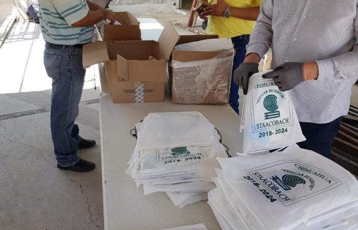 Entregan kits preventivos a personal de los cobach