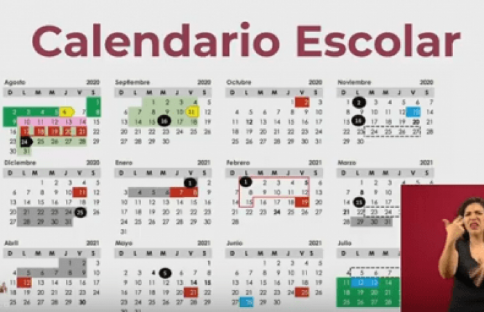 Da a conocer la sep el calendario escolar 2020-2021